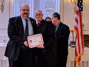 Adam Geier - 5 Years of Service, presented by Mayor Richard Goldberg.