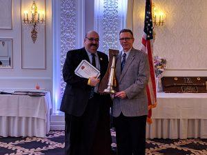 David Hughes - 40 Years of Service, presented by Mayor Richard Goldberg.