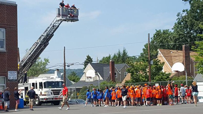 Hawthorne Fire Department attends the 2017 Leadership Camp at Lincoln Middle School