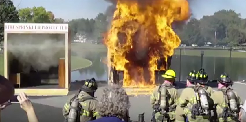 HFD will demonstrate a Live Side-by-Side Burn during Hawthorne Day