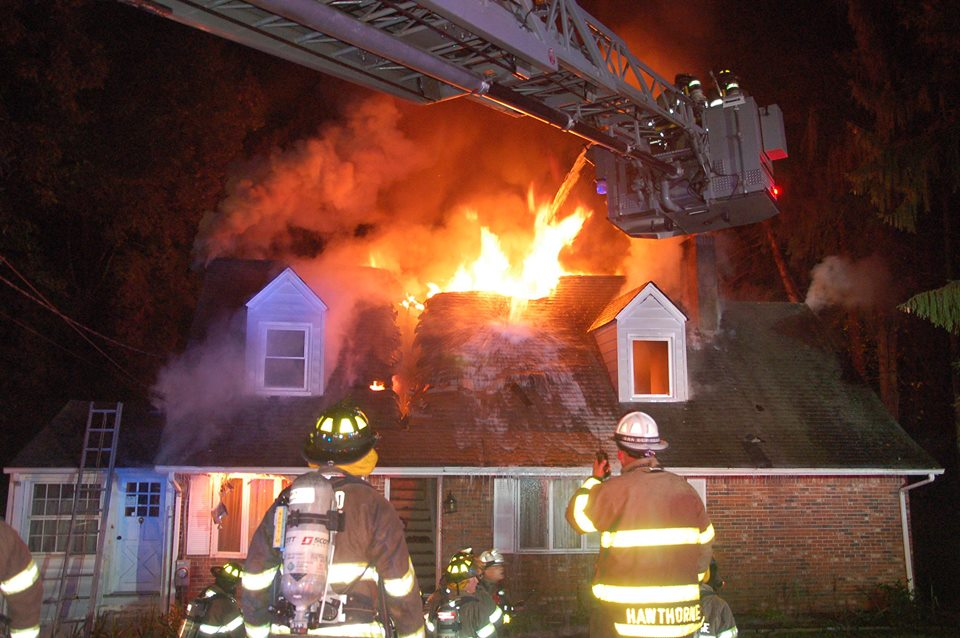Fire engulfs upper floors of Hawthorne home in three-alarm fire