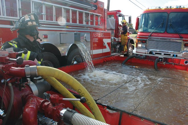 Hawthorne Fire Department Hosting a Water Tender Operations Event