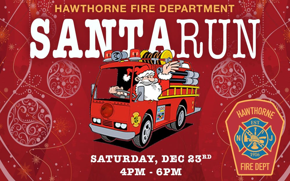 Dec 23rd Hawthorne Fire Department Santa-RUN