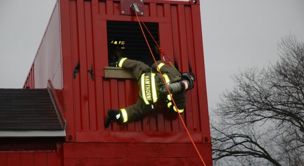Hawthorne Firefighters receive Bailout Escape Training