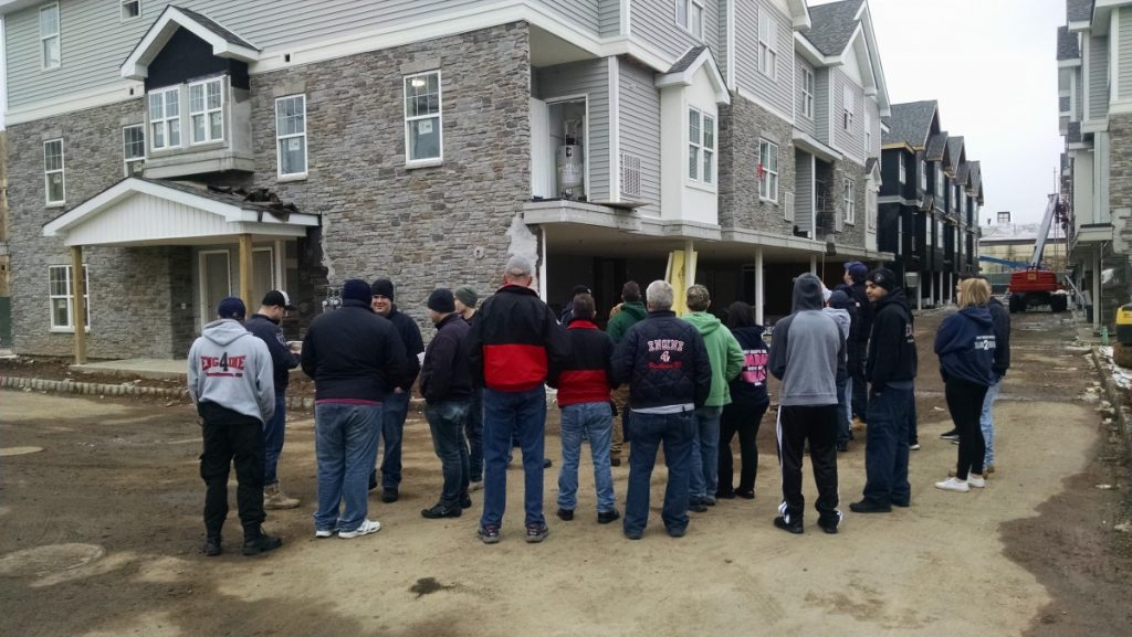 Hawthorne Fire Dept. preforms walk through of new construction