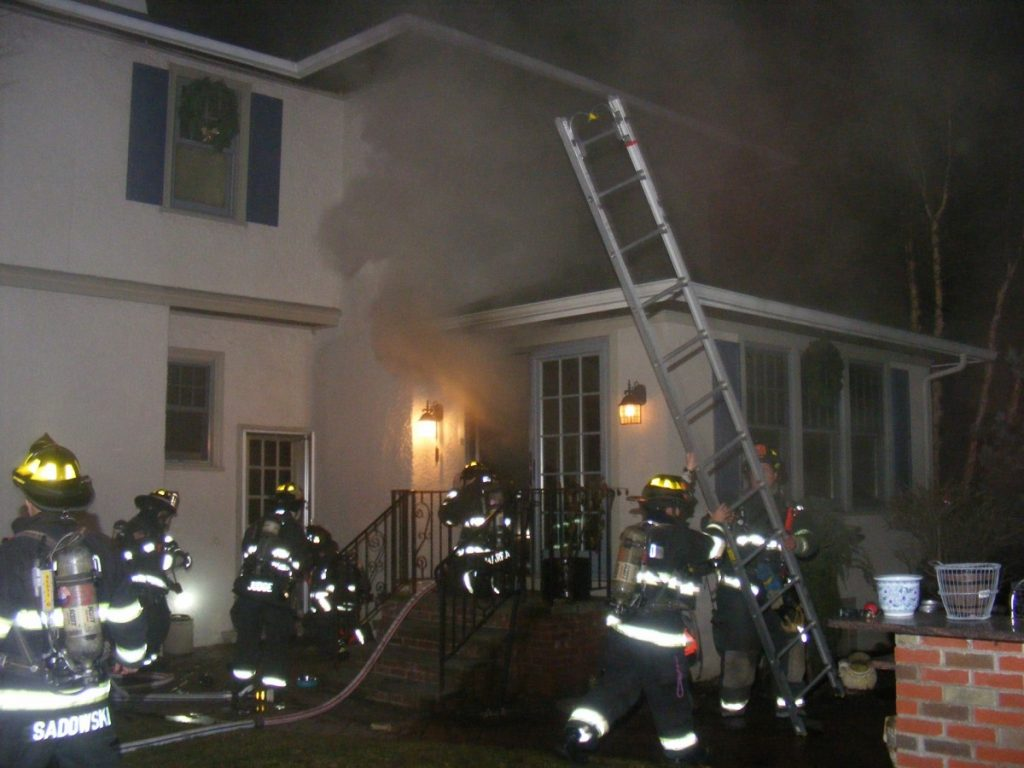 Hawthorne Fire Department was dispatched to Glen Rock for mutual aid on a working basement fire