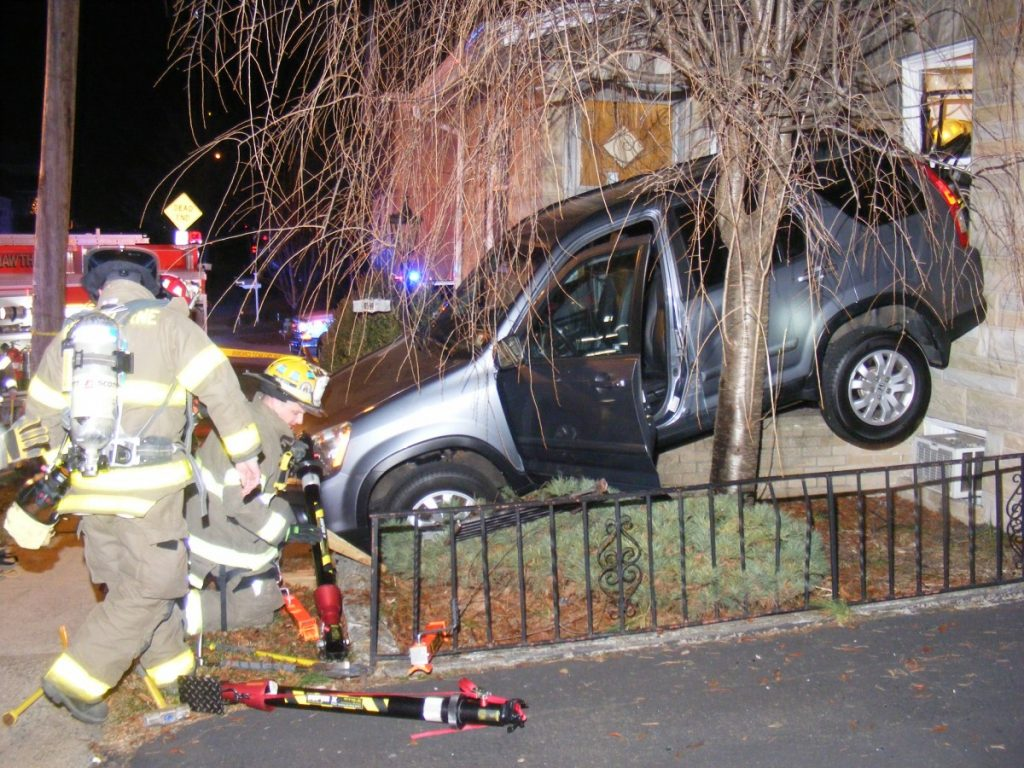 MVA into a residential home on 100 block of Passaic Avenue