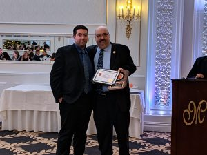 Bob Lamb III - 15 Years of Service, presented by Mayor Richard Goldberg.