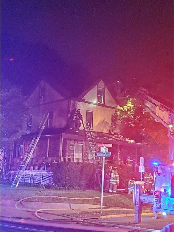 Hawthorne home catches fire
